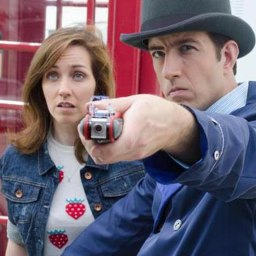 Travis Richey bring his Inspector Spacetime character to life, delighting Doctor Who fans the world over.
