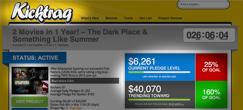 Kickstarter Campaign Hits 25% Mark