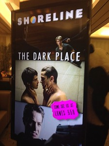 TEASER The first teaser poster for 'The Dark Place' on display at the AFM conference, courtesy of Shoreline Entertainment. (Photo by Jody Wheeler)