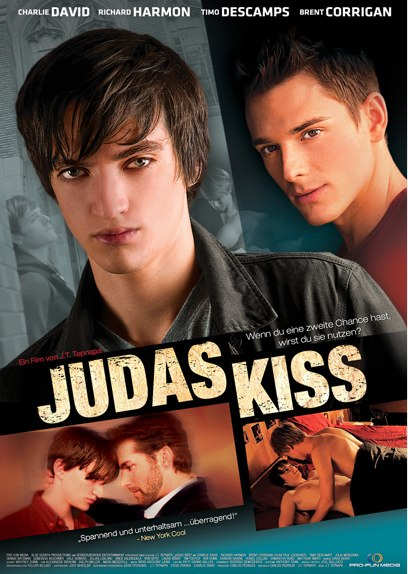GERMAN DVD Cover art for the German version of our first feature, Judas Kiss, also distributed by Pro-Fun Media.