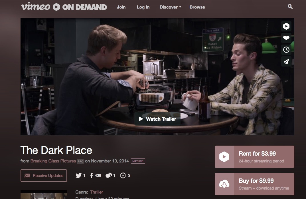 'The Dark Place' on Vimeo On Demand